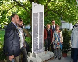 Miniaturbild zu:Stele an der Kaiserstraße zum Gedenken an jüdische Geschäftswelt