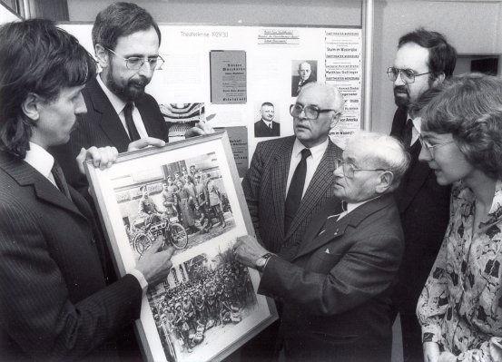 Ausstellungseröffnung im Dokumentationszentrum mit Dr. Baum, David Schuster und Dr. Wagner