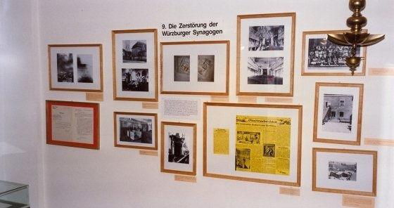 Blick in die Ausstellung im alten Dokumentationszentrum, etwa im Jahr 2000