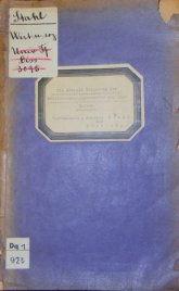Außenansicht der Doktorarbeit von Johanna Stahl mit Aufklebern für Titel und Signaturen