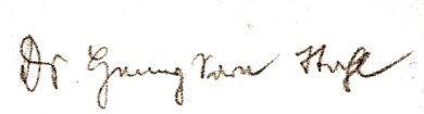 Unterschrift mit dem von den Nazis vorgeschriebenen Namen