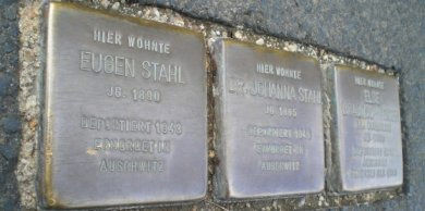 Stolpersteine für Eugen und Henny Stahl an der Konradstr. 9